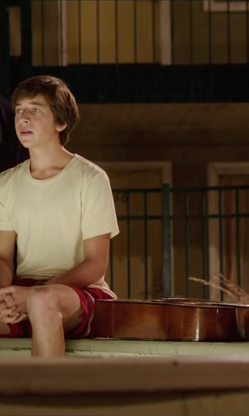 Skyler Gisondo with Generic Coffee Classical 6-String Acoustic Guitar in Vacation