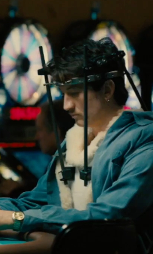 Miles Teller with Michael Kors Mid-Size Bradshaw Chronograph Watch in Bleed for This