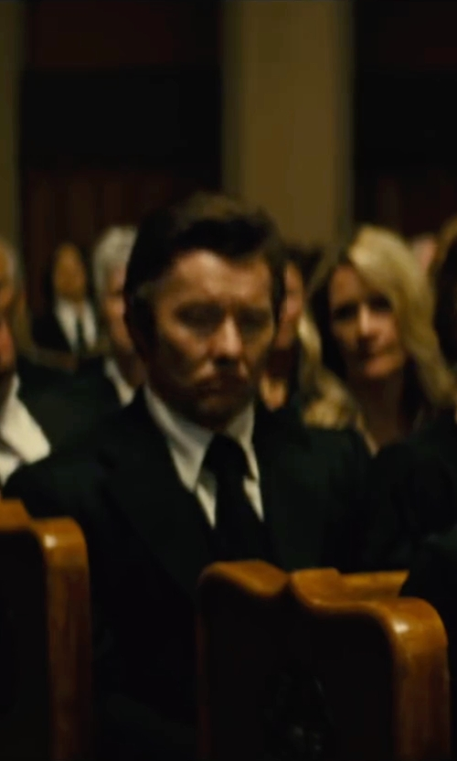 Joel Edgerton with Z Zegna Notched Collar Two-Piece Suit in Black Mass