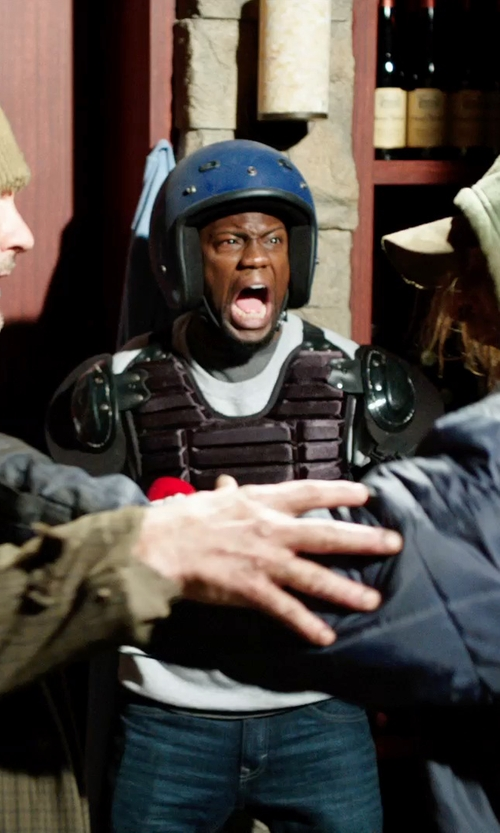 Kevin Hart with HCI Retro Glitter Open Face Helmet in Get Hard