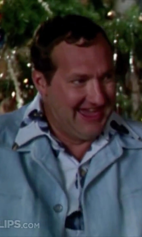 Randy Quaid with River Island Hawaiian Print Short Sleeve Shirt in Christmas Vacation