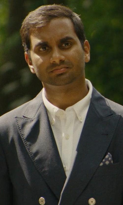 Aziz Ansari with Gucci Double Breasted Cotton Drill Blazer in Master of None