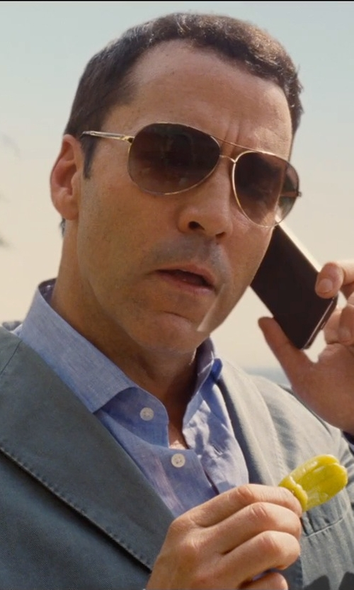 Jeremy Piven with Barton Perreira  Lovitt Aviator Sunglasses in Entourage