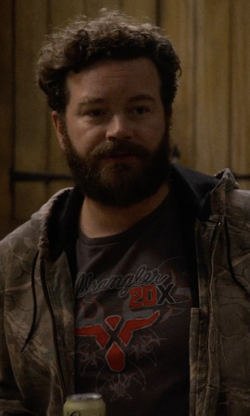 Danny Masterson with Wrangler 20X Long Sleeve T-Shirt in The Ranch