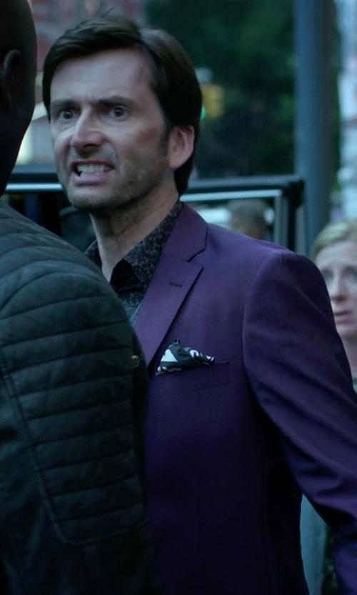 David Tennant with Tallia Solid Slim-Fit Suit in Jessica Jones