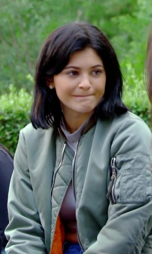 Kylie Jenner with Veronica Beard Box Pleated Back Bomber Jacket in Keeping Up With The Kardashians