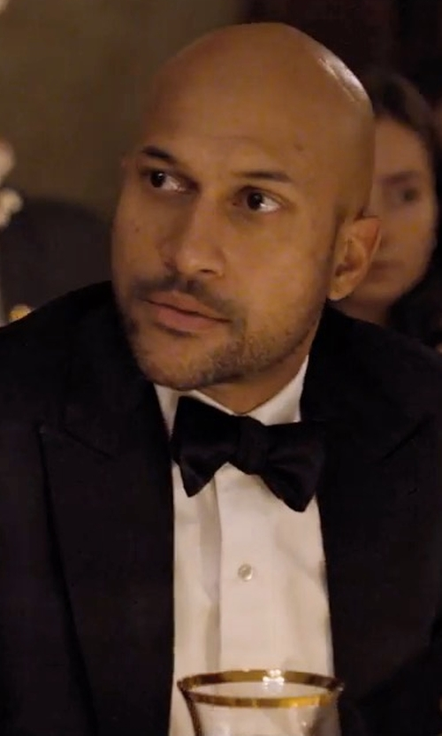 Keegan-Michael Key with Givenchy Wool And Mohair Blend Tuxedo Suit in Friends From College