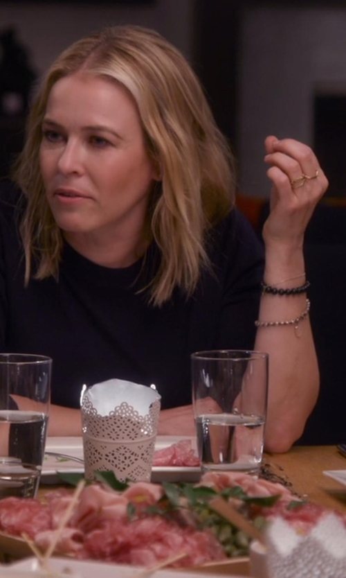 Chelsea Handler with Michael Kors Brilliance Pavé Beaded Slide Bracelet in Chelsea