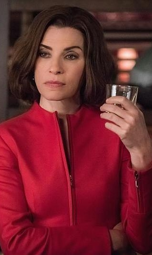 Julianna Margulies with Calaluna Round Collar Blazer in The Good Wife