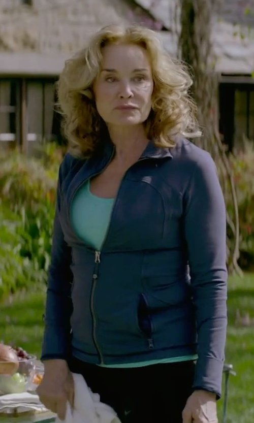 Jessica Lange with Alo Geo Mesh Back Tank in The Gambler