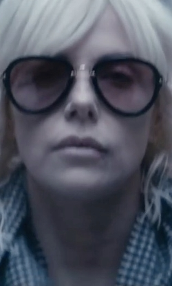 Charlize Theron with Tom Ford Stacey Aviator Sunglasses in Atomic Blonde