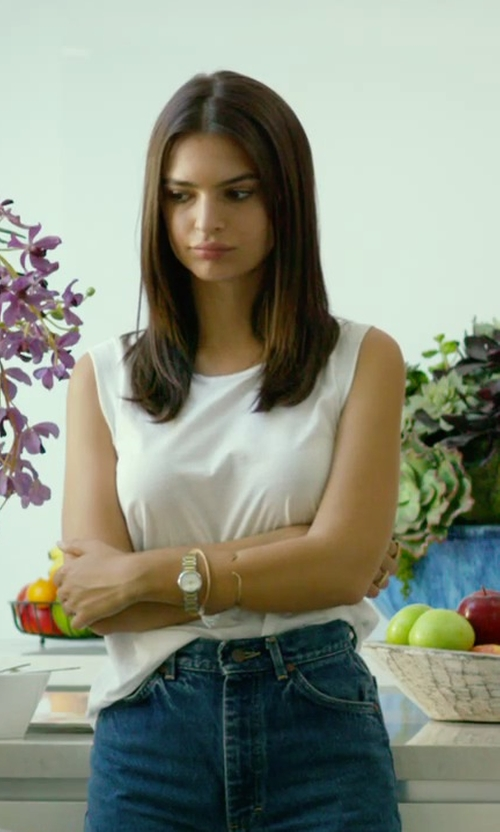 Emily Ratajkowski with Marc By Marc Jacobs Baker Round Bracelet Watch in We Are Your Friends