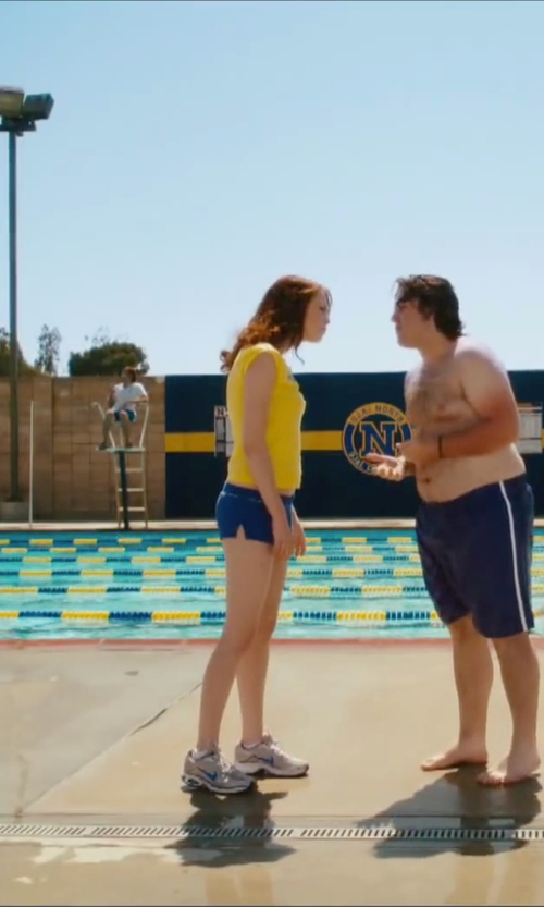 Emma Stone with Nike Mesh Lace Up Athletic Shoes in Easy A