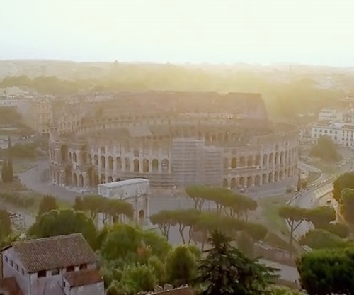 Unknown Actor with Colosseum Rome, Italy in John Wick: Chapter 2