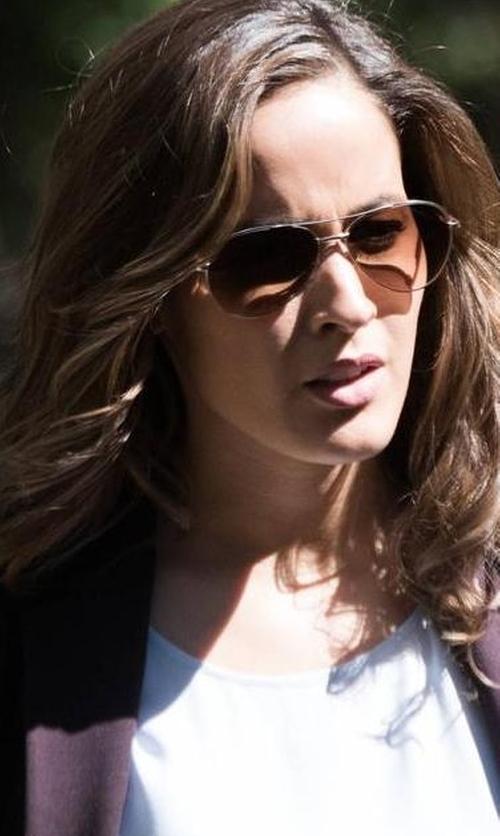 Jaina Lee Ortiz with Michael Kors Pandora Sunglasses in Rosewood