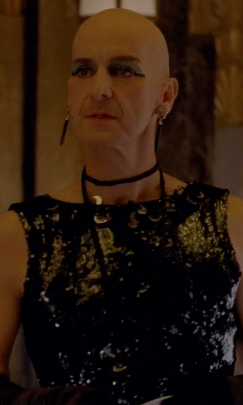 Denis O'Hare with Lanvin Knee-Length Sequin Dress in American Horror Story
