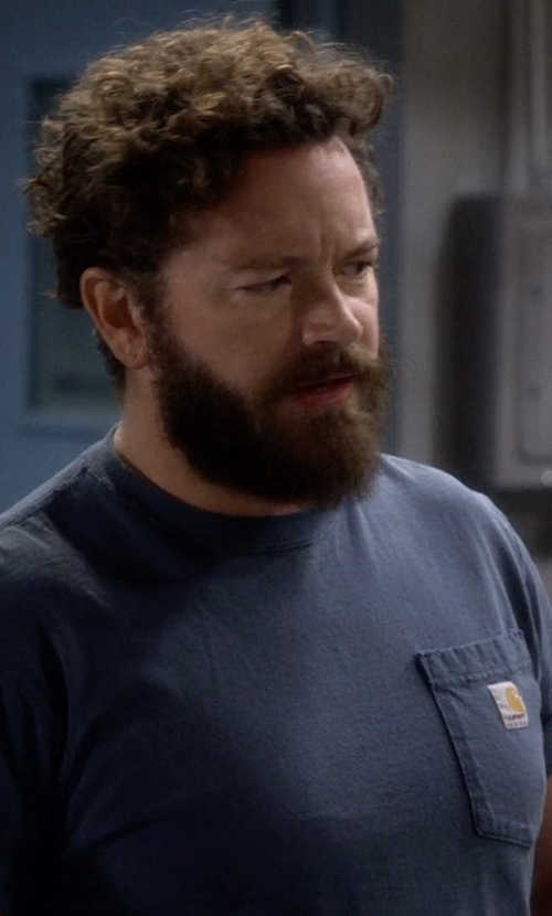 Danny Masterson with Carhartt Workwear Pocket T-Shirt in The Ranch