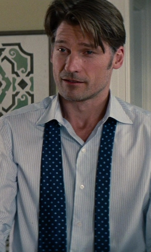 Nikolaj Coster-Waldau with Kenneth Cole New York Non-Iron Regular Fit Stripe French Cuff Dress Shirt in The Other Woman