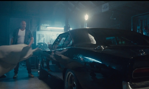 Vin Diesel with Dodge 1970 Charger R/T Coupe in Furious 7