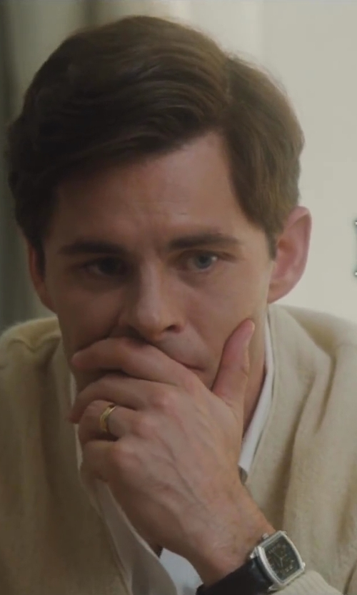 James Marsden with Omega Seamaster Aqua Terra Black Dial GMT Mens Watch in Lee Daniels' The Butler