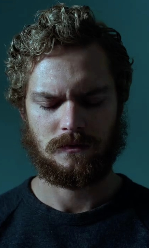 Finn Jones with J. Lindeberg  Solid Long Raglan Sleeve Pullover in Marvel's Iron Fist