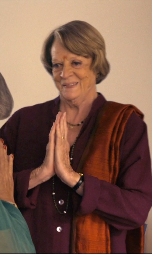 Maggie Smith with Blue Nile Low Dome Comfort Fit Wedding Ring in The Second Best Exotic Marigold Hotel