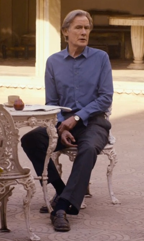 Bill Nighy with Church's Elveden Leather Penny Loafers in The Second Best Exotic Marigold Hotel