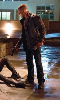 Jon Bernthal with Strellson Ranger Utility Jacket in Daredevil
