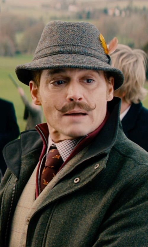 Johnny Depp with Ralph Lauren Polo Golf Non-Iron Tattersall Shirt in Mortdecai