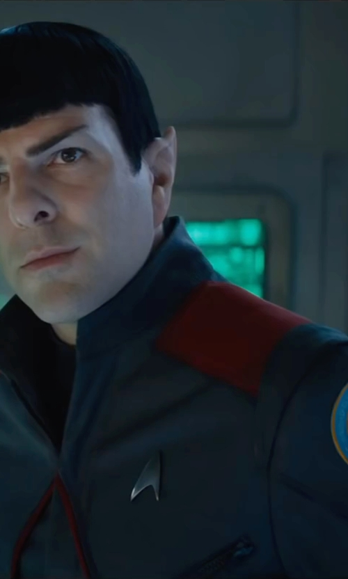 Zachary Quinto with Sanja Milkovic Hays (Costume Designer) Custom Made Spock Starfleet Blazer Uniform in Star Trek Beyond