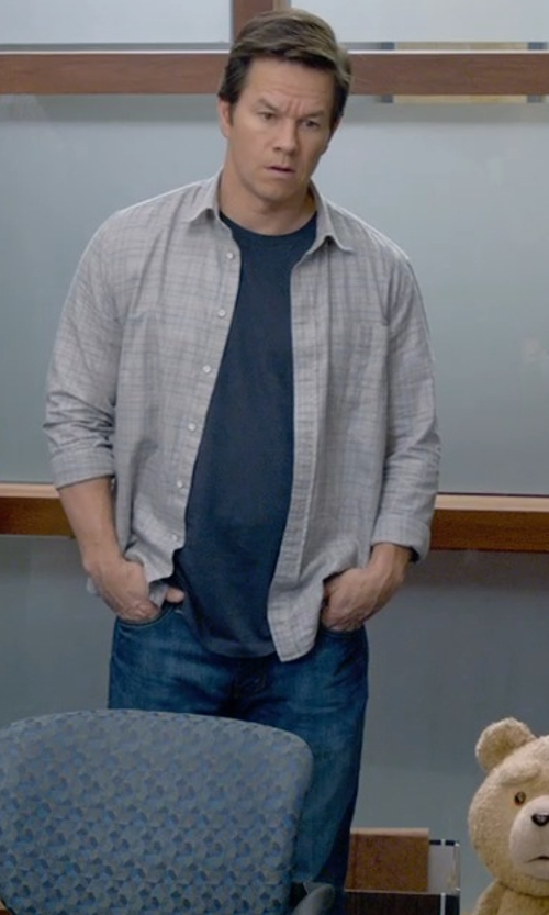 Mark Wahlberg with J Brand Kane Jeans in Ted 2