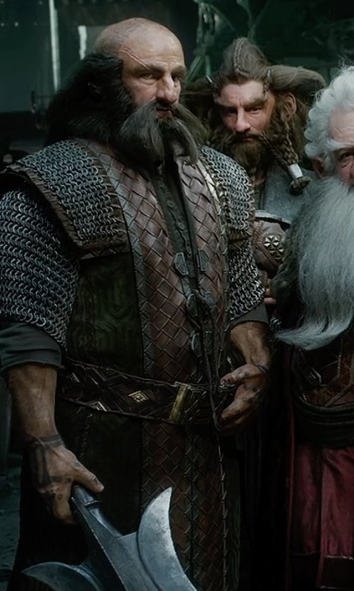 Graham McTavish with Ann Maskrey & Bob Buck (Costume Designer) Custom Made Dwalin Costume in The Hobbit: The Battle of The Five Armies