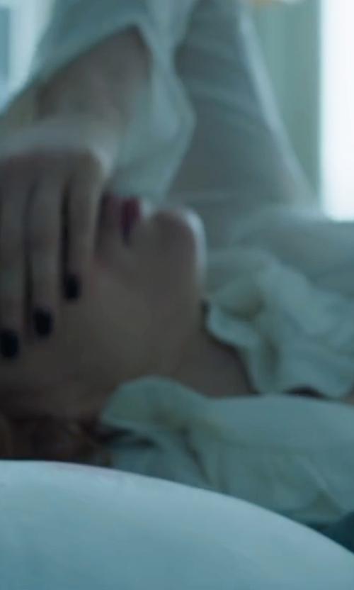 Jessica Chastain with La Petite Robe di Chiara Boni Pernille Ruffle Blouse in Miss Sloane