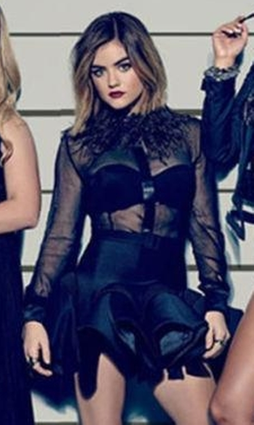 Lucy Hale with Roberto Cavalli Flared Skirt in Pretty Little Liars