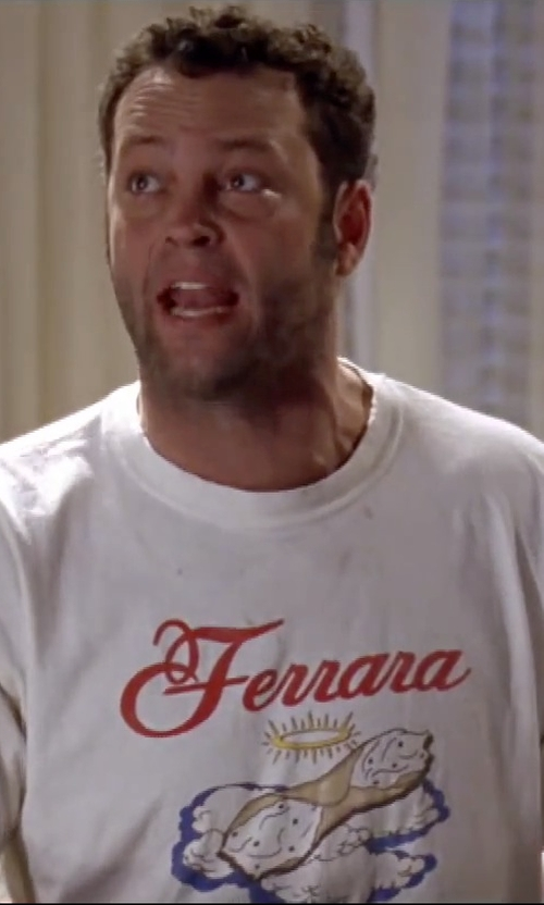 Vince Vaughn with Ferrara Holy Cannoli T-Shirt in Mr. & Mrs. Smith