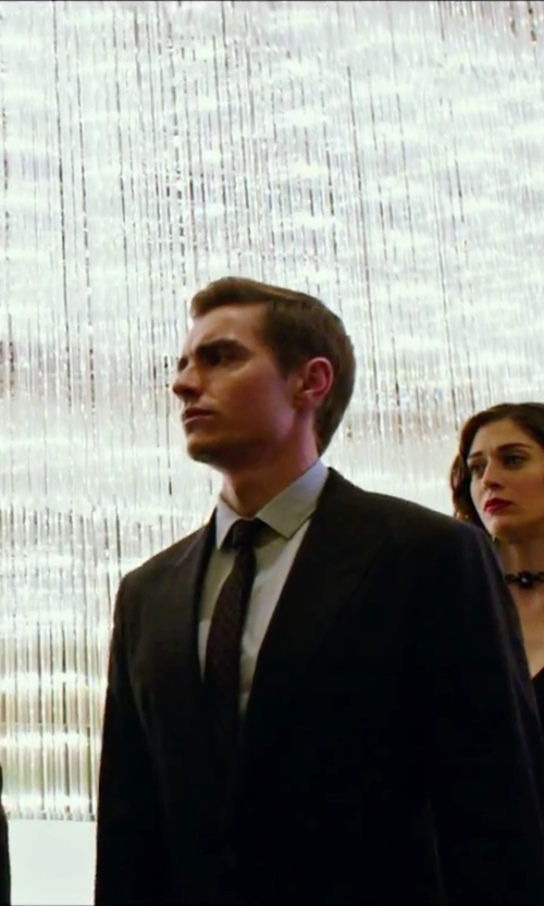 Dave Franco with Sean John Wilson Solid Stripe Tie in Now You See Me 2