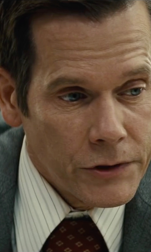 Kevin Bacon with Brooks Brothers Shadow Medallion Tie in Black Mass