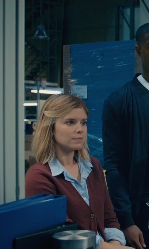 Kate Mara with MSGM Button Front Cotton Shirt in Fantastic Four