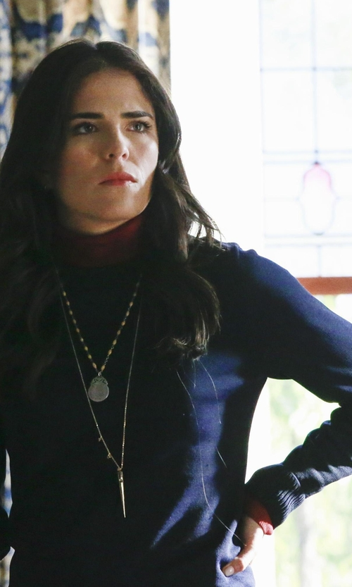 Karla Souza with Boden USA Cashmere Relaxed Sweater in How To Get Away With Murder