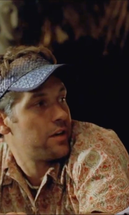 Paul Rudd with Marc Jacobs Pattern Colorblock Short Sleeve Shirt in Forgetting Sarah Marshall