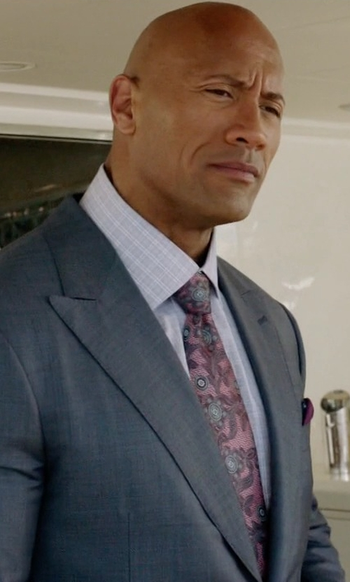 Dwayne Johnson with John W. Nordstrom 'Beasley Pine' Paisley Silk Tie in Ballers