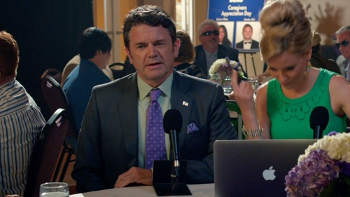 John Michael Higgins with Brooks Brothers Dress Shirt in Pitch Perfect 2