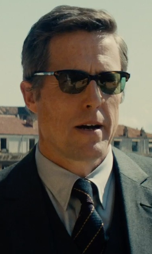 Hugh Grant with Stefano Ricci Basic French-Cuff Solid Dress Shirt in The Man from U.N.C.L.E.