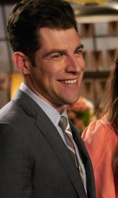 Max Greenfield with John Varvatos  Striped Tie in New Girl