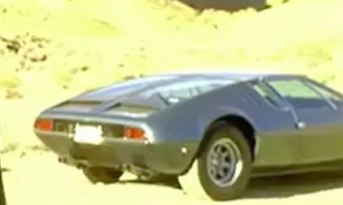 David Carradine with DeTomaso 1969 Mangusta Coupe in Kill Bill: Vol. 2