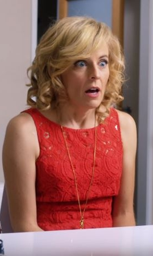 Maria Bamford with Kendra Scott 'Glam Rocks - Sienna' Pendant Necklace in Lady Dynamite