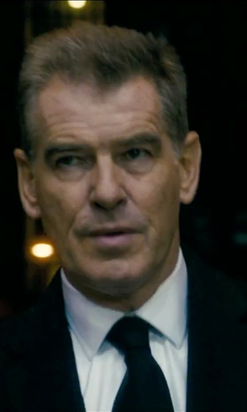 Pierce Brosnan with Ralph Lauren Solid Peau De Soie Tie in Survivor