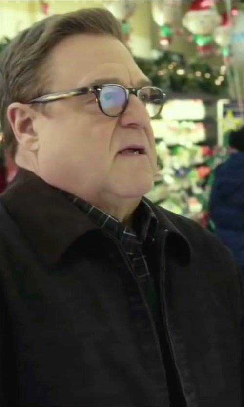 John Goodman with Paul Smith Check Button Down Shirt in Love the Coopers