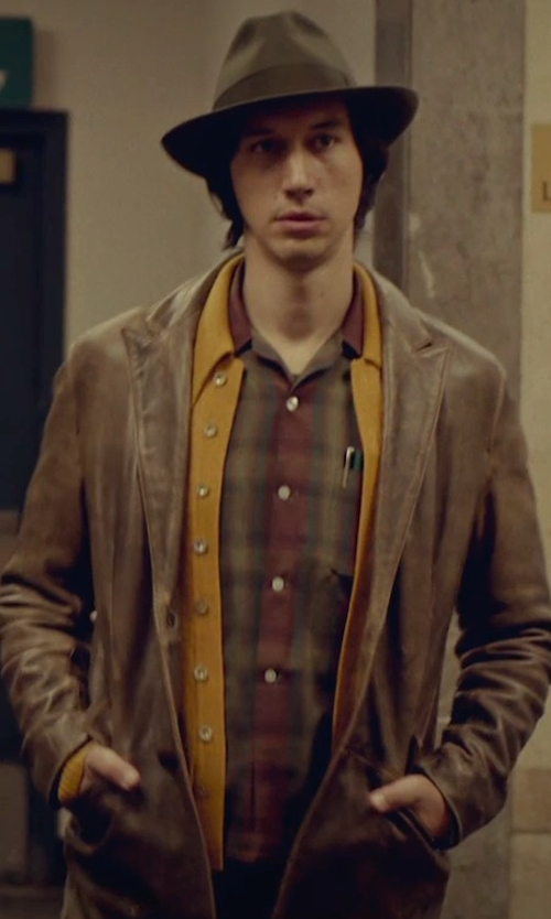 Adam Driver with Brooks Brothers Country Club Wool Sport Shirt in While We're Young