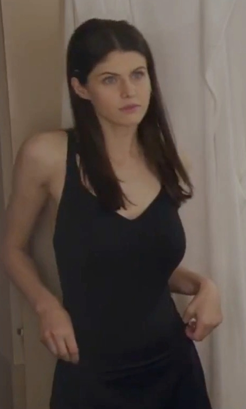 Alexandra Daddario with Beach Riot Bridget One Piece Swimsuit in The Layover